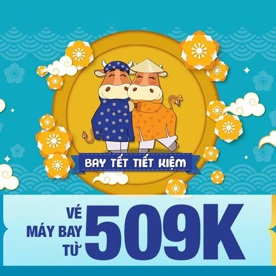 Vietnam Airlines khuyến mãi vé bay Tết chỉ từ 509k