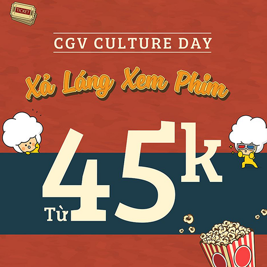 CGV khuyến mãi vé phim chỉ từ 45K