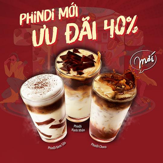 Highlands Coffee khuyến mãi đến 40% cho Phindi