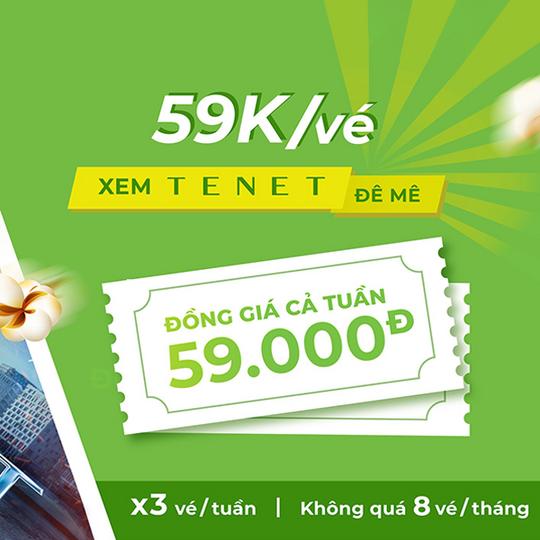BHD Star Cineplex đồng giá 59k các ngày trong tuần