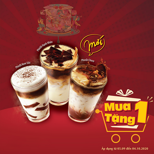 Highlands Coffee khuyến mãi mua 1 tặng 1 tại Lotte Mart