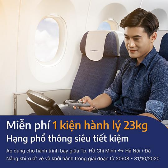 Pacific Airlines miễn phí hành lý ký gửi khi mua vé bay