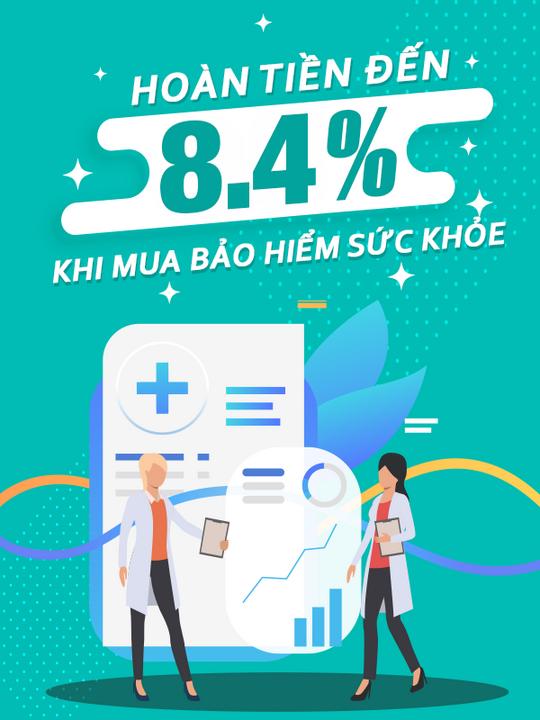 Bảo Hiểm Sức Khỏe hoàn tiền đến 8.4% khi đăng ký bảo hiểm