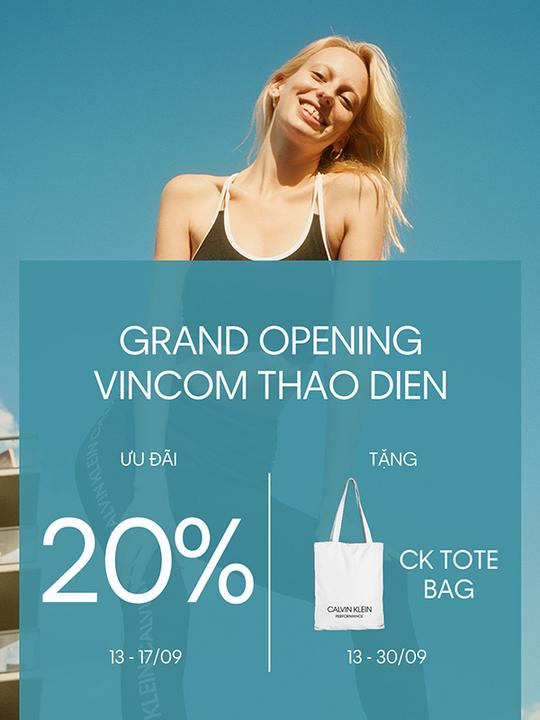 Calvin Klein khuyến mãi 20% & tặng túi tote