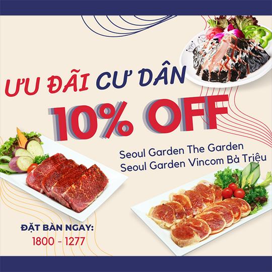 Seoul Garden giảm 10% cho cư dân