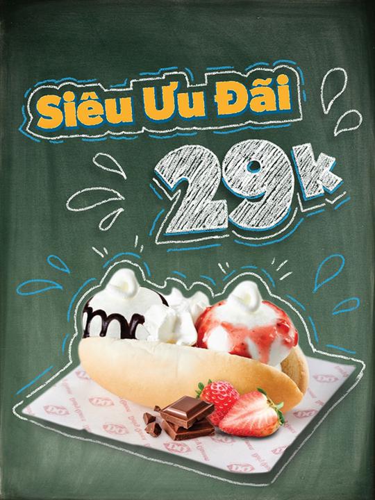 Dairy Queen khuyến mãi bánh kem chỉ 29K