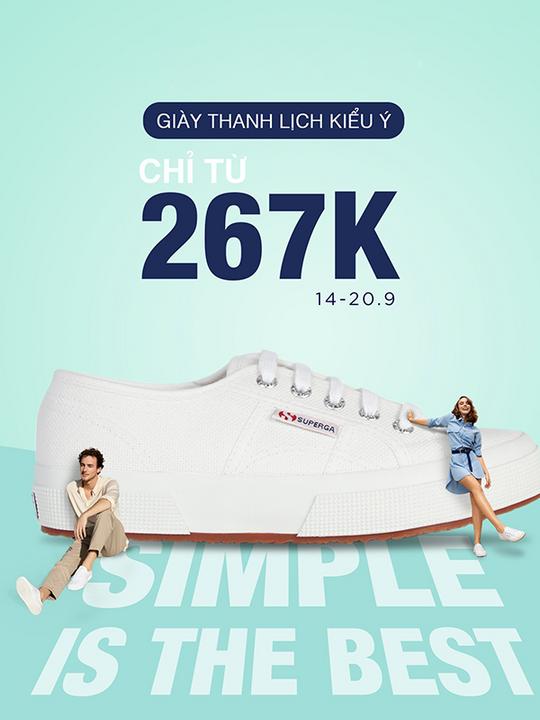 Hoàng Phúc giảm giá từ 267k giày Superga