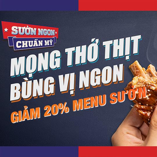 Cowboy Jack's giảm 20% menu sườn tại Hà Nội