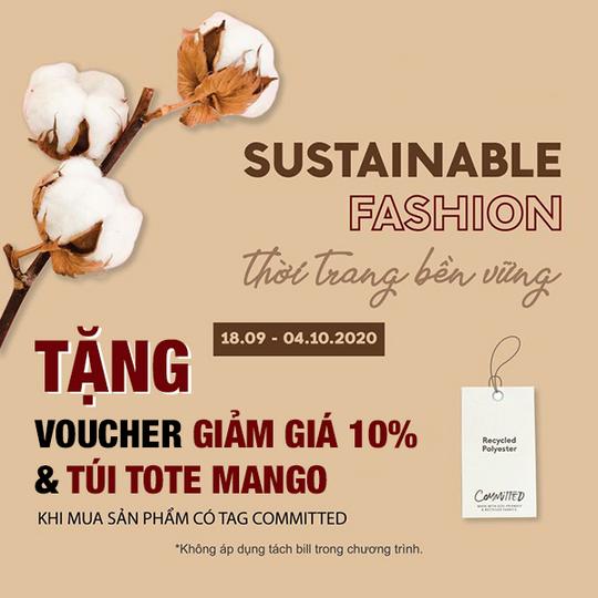 MANGO tặng voucher giảm 10% + túi Tote