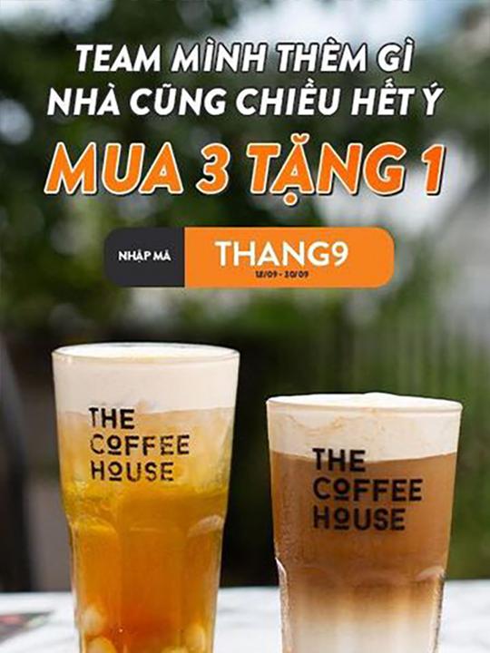 The Coffee House khuyến mãi mua 3 tặng 1