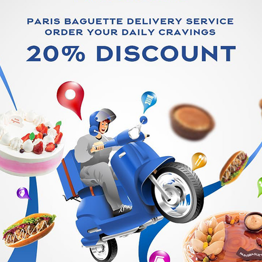 Paris Baguette Việt Nam giảm 20% menu bánh kem