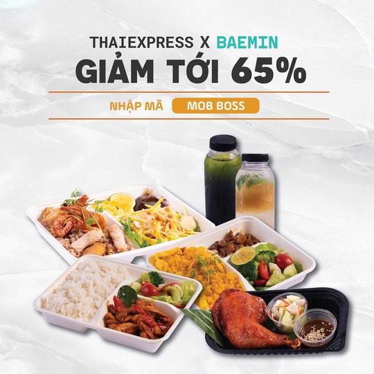 ThaiExpress giảm 65% khi đặt qua Baemin