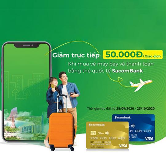 Gotadi giảm 50k khi thanh toán vé bay & khách sạn