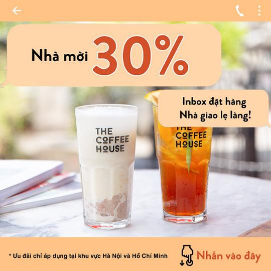 The Coffee House khuyến mãi 30% cho đơn hàng