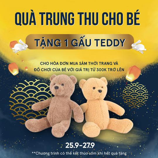 ROBINS Department Store tặng 1 gấu Teddy với ĐH từ 300k