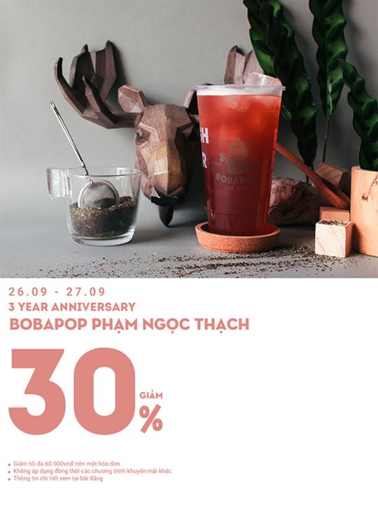 Bobapop giảm 30% toàn menu tại Hà Nội