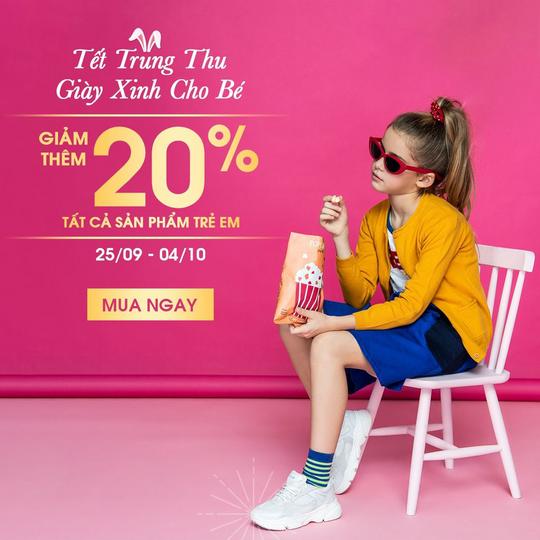 Shooz Vietnam giảm thêm 20% sản phẩm trẻ em