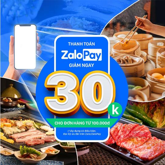 King BBQ tặng 30K khi thanh toán qua Zalopay