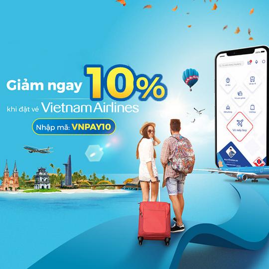 Vietnam Airlines giảm 10% tối đa 300k vé bay từ 1500k