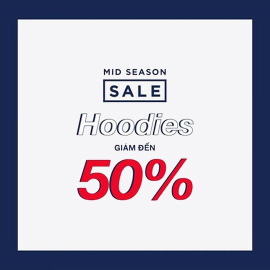 GAP khuyến mãi giảm đến 50% áo Hoodies