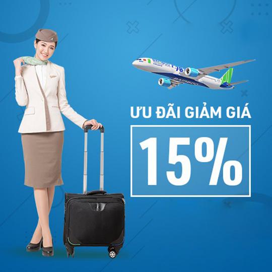Bamboo Airways giảm đến 15% vé bay cho hội viên Shopee