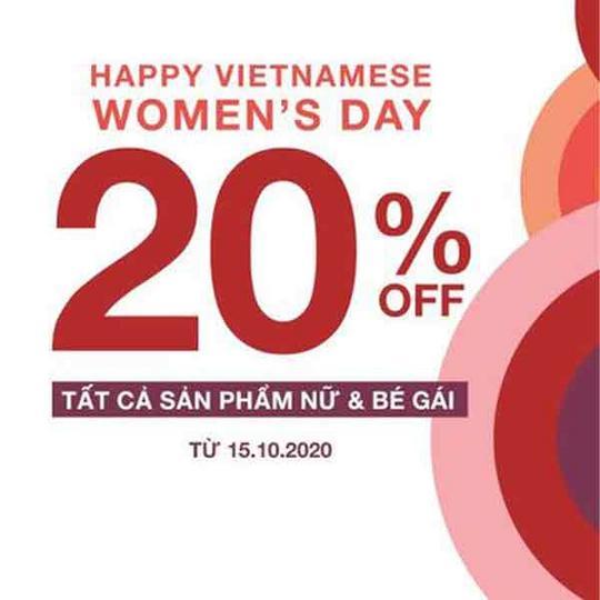 GAP giảm 20% tất cả sản phẩm nữ và bé gái