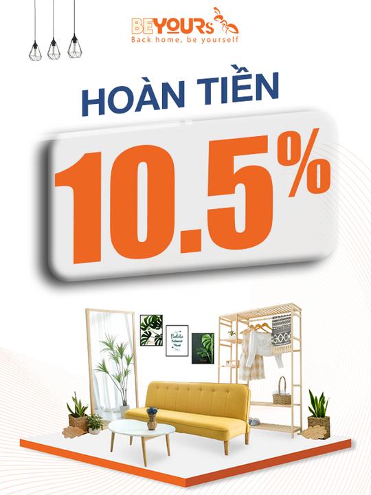 Shopee Bonus hoàn tiền 10.5% khi mua sp Be Yours