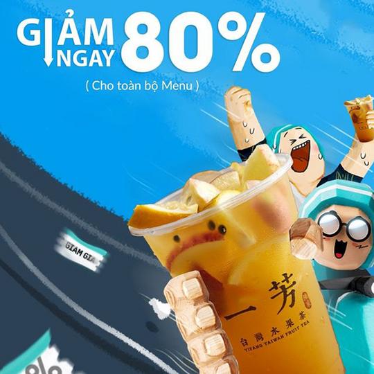 Yifang giảm đến 80% toàn bộ menu