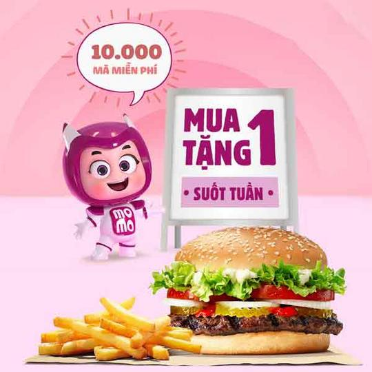 Burger King khuyến mãi mua 1 tặng 1