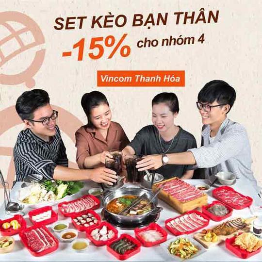 Hotpot Story giảm 15% tại Vincom Thanh Hóa