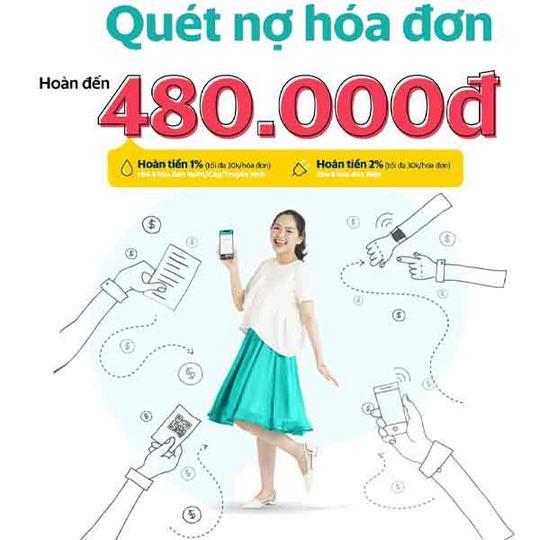 SmartPay hoàn đến 480k khi thanh toán hóa đơn