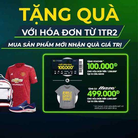 Supersports Vietnam tặng quà với hóa đơn từ 1tr2
