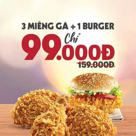 KFC khuyến mãi combo chỉ 99k