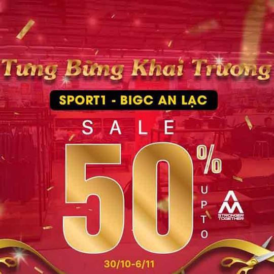 Siêu thị thể thao Sport 1 giảm đến 50% mừng khai trương