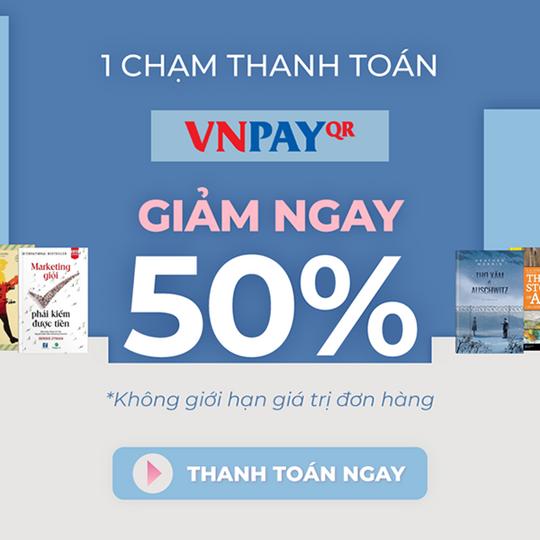 FAHASA giảm 50% khi thanh toán qua VNPay