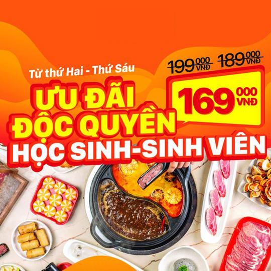 Hotpot Story khuyến mãi buffet 169k cho HS-SV