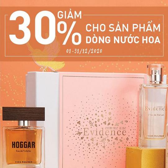 Yves Rocher khuyến mãi 30% các dòng nước hoa