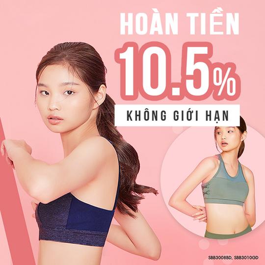 Sabina Vietnam hoàn tiền 10.5% khi mua tại Shopee
