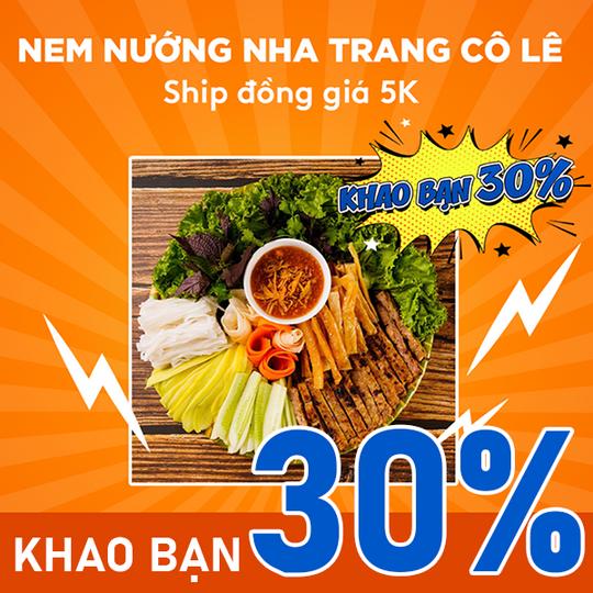 AhaMove khuyến mãi 15% toàn menu-ship 5k