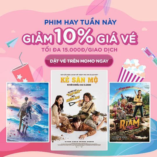 Galaxy Cinema giảm 10% giá vé khi đặt qua Momo