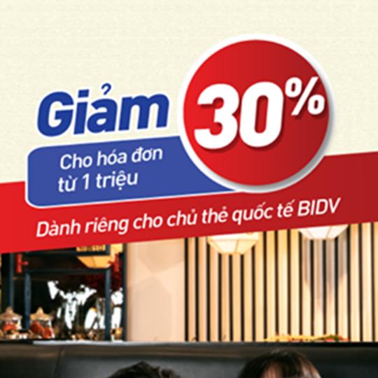 King BBQ khuyến mãi 30% cho chủ thẻ BIDV