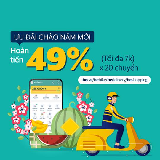 SmartPay khuyến mãi hoàn tiền 49% khi dùng Be