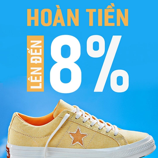 Converse hoàn tiền lên đến 8%