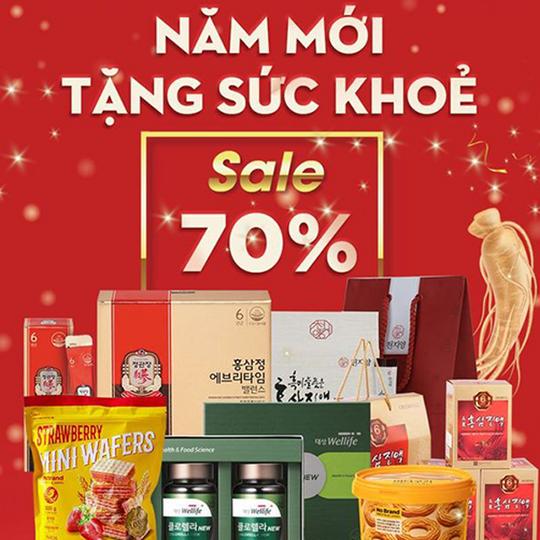 Yes24 khuyến mãi 70% các sản phẩm Hồng sâm HQ