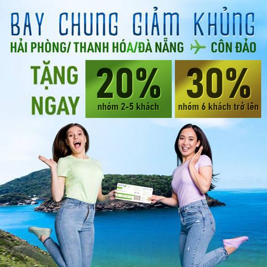 Bamboo Airways khuyến mãi tới 30% đường bay Côn Đảo