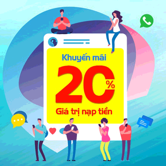 Mobifone khuyến mãi 20% giá trị thẻ nạp ngày 20/01