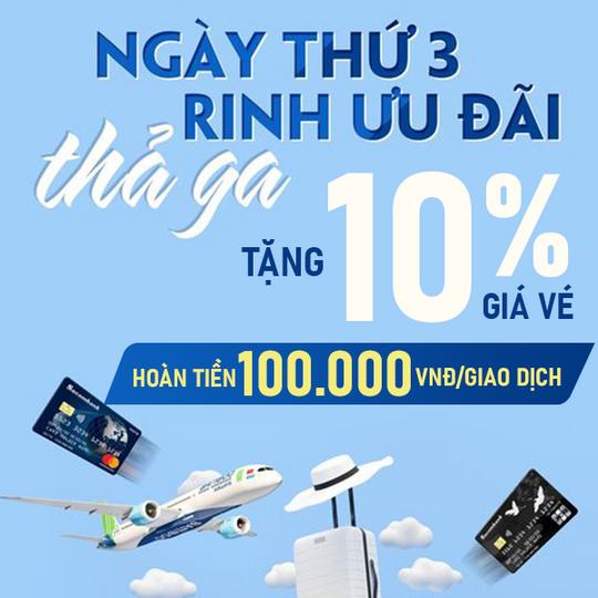Bamboo Airways khuyến mãi 10% giá vé vào thứ 3