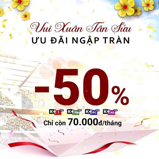 FPT Play khuyến mãi 50% gói K+ 1 tháng