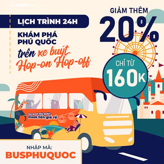 Klook khuyến mãi vé xe buýt Phú Quốc từ 160k