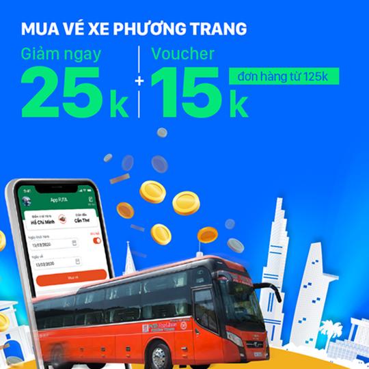 ZaloPay khuyến mãi 25k khi mua vé Phương Trang